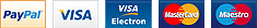 Credit card and payment processors logos